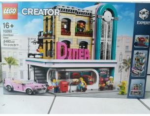 LEGO CREATOR 10260 - DINER AMERICANO RARO SCATOLA LEGGERMENTE ROVINATA