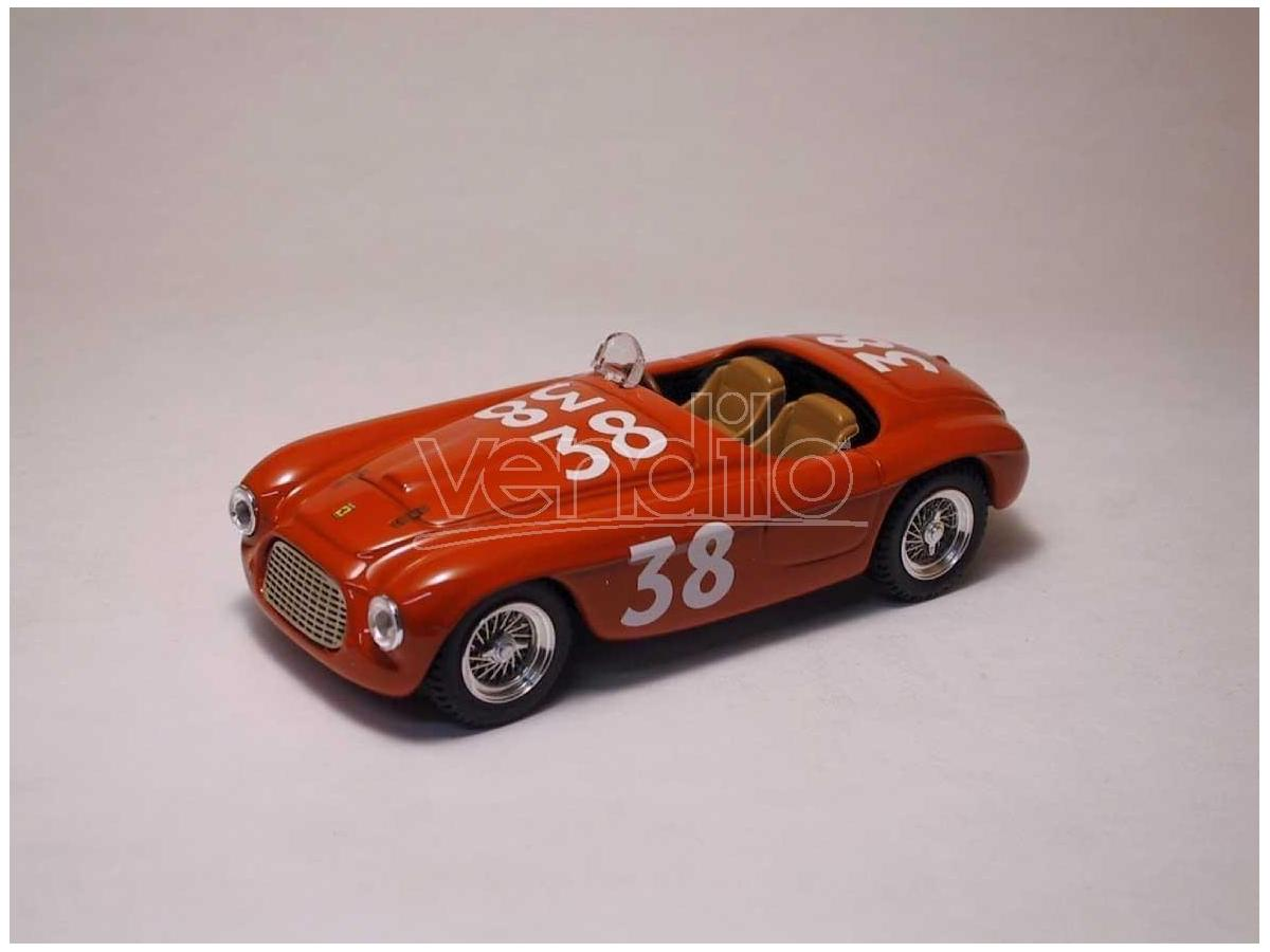 Art Model AM0096 FERRARI 166 MM SPYDER N.38 WINNER SILVERSTONE 1950 A.ASCARI 1:43 Modellino