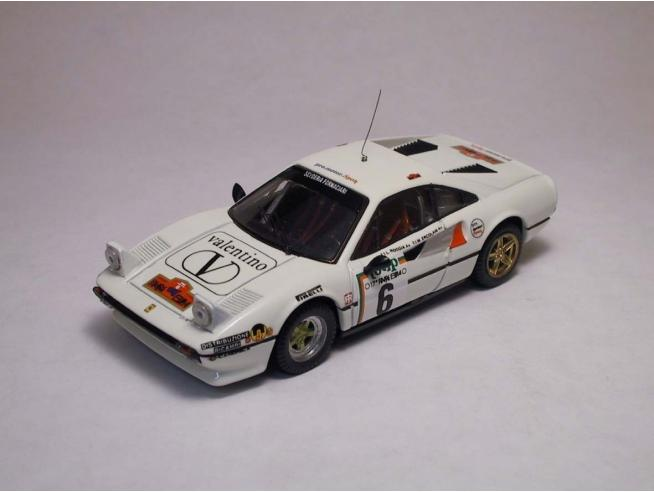 Best Model BT9207 FERRARI 308 GTB N.6 6th RALLY ELBA 1985 ERCOLANI-ROGGIA 1:43 Modellino