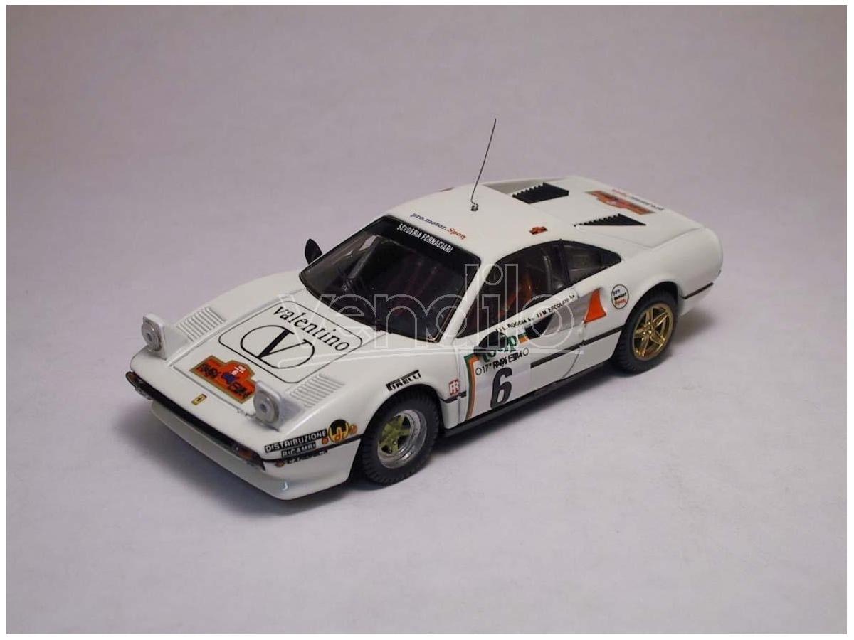 Best Model BT9207 FERRARI 308 GTB N.6 6th RALLY ELBA 1985 ERCOLANI-ROGGIA 1:43 Modellino