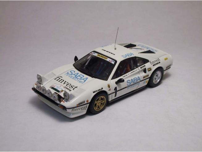 Best Model BT9211 FERRARI 308 GTB N.1 TARGA FLORIO 1983 TONY-RADAELLI 1:43 Modellino
