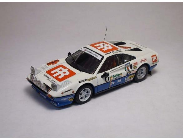 Best Model BT9218 FERRARI 308 GTB N.8 6th RALLY ELBA 1984 F.ORMEZZANO-M.AMATI 1:43 Modellino