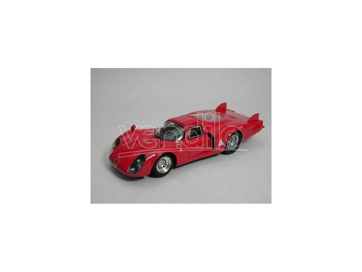 Best Model BT9251 ALFA ROMEO 33.2 CODA LUNGA 1968 RED 1:43 Modellino