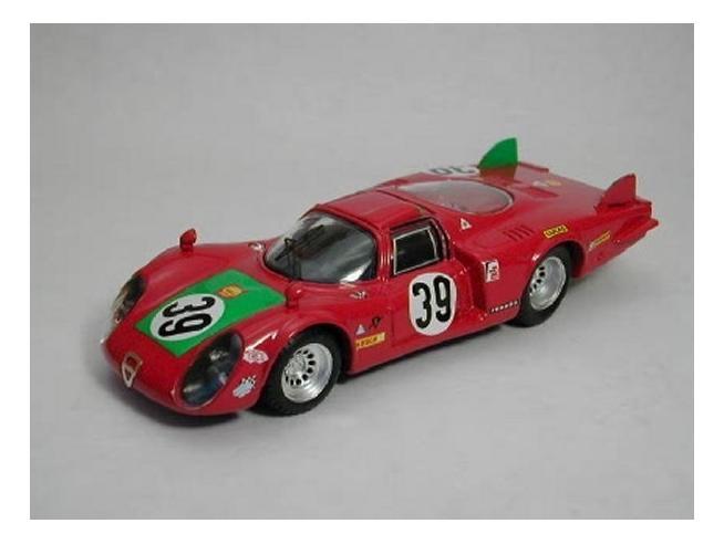 Best Model BT9254 ALFA ROMEO 33.2 N.39 4th LE MANS 1968 GIUNTI-GALLI 1:43 Modellino
