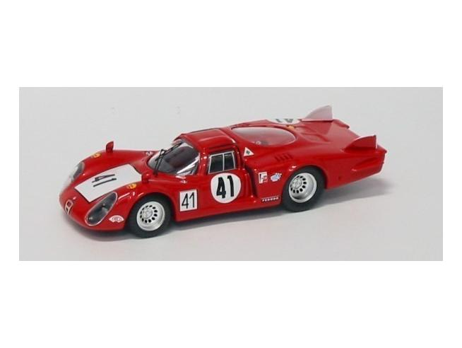 Best Model BT9272 ALFA ROMEO 33.2 N.41 28th LE MANS 1968 VACCARELLA-BAGHETTI 1:43 Modellino