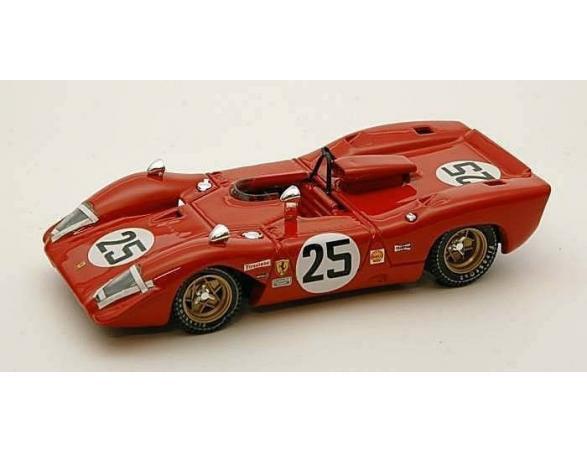 Best Model BT9298 FERRARI 312 P SPIDER N.25 2nd 12H SEBRING 1969 ANDRETTI-AMON 1:43 Modellino