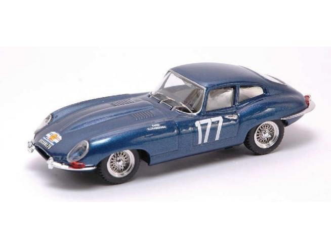 Best Model BT9342 JAGUAR E COUPE' N.177 DNF TOUR D.FRANCE 1963 CARDI-KLUKASZENWSKI 1:43 Modellino