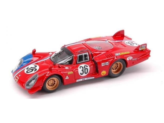 Best Model BT9351 ALFA ROMEO 33.2 N.36 52th LM 1969 PILETTE- SLOTEMAKER 1:43 Modellino
