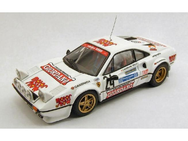 Best Model BT9366 FERRARI 308 GTB N.24 5th RALLY 4 REGIONI 1983 GIORDANO-BOLLA 1:43 Modellino