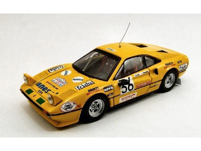 Best Model BT9368 FERRARI 308 GTB N.36 RALLY AUTODROMO MONZA 1983 FACETTI-ARTIOLI 1:43 Modellino