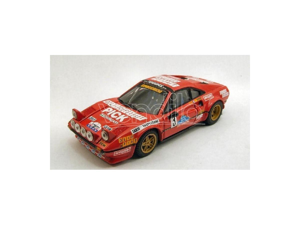 Best Model BT9376 FERRARI 308 GTB N.3 RETIRED TARGA FLORIO 1980 ANDRUET-BICHE 1:43 Modellino