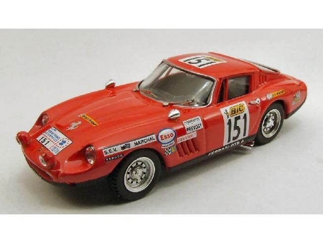 Best Model BT9383 FERRARI 275 GTB N.151 DISQUAL.TOUR DE FRANCE 1970 CORENTIN-PREVOST 1:43 Modellino