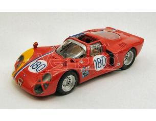 Best Model BT9390 ALFA ROMEO 33.2 N.180 RETIRED TARGA FLORIO 1968 GOSSELIN-TROSCH 1:43 Modellino