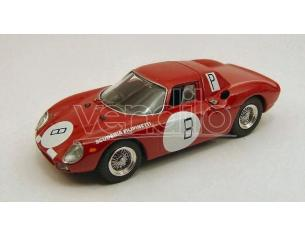 Best Model BT9399 FERRARI 250 LM N.8 9th 1000 KM NURBURGRING 1966 MULLER-MAIRESSE 1:43 Modellino