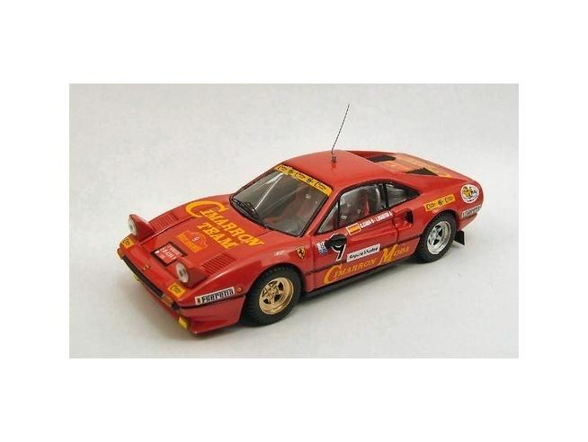 Best Model BT9411 FERRARI 308 GTB N.9 ACCIDENT CATALUNYA 1985 C.CABA-J.MARTIN 1:43 Modellino