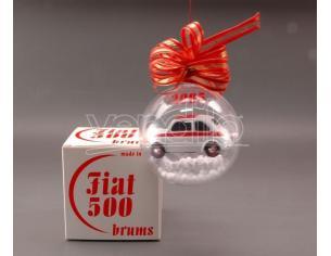 Brumm BMBR02 FIAT 500 IN BOLLA SAPONE NATALIZIA 2005 1:43 Modellino