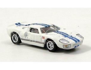 Bub 08102 FORD GT40 WHITE-BLUE NUOVI CERCHIONI Modellino