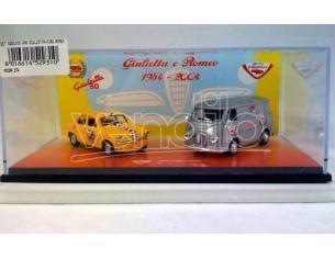 Club Bialbero 374 SET 1950 ANNIVERSARIO GIULIETTA 1:43 Modellino