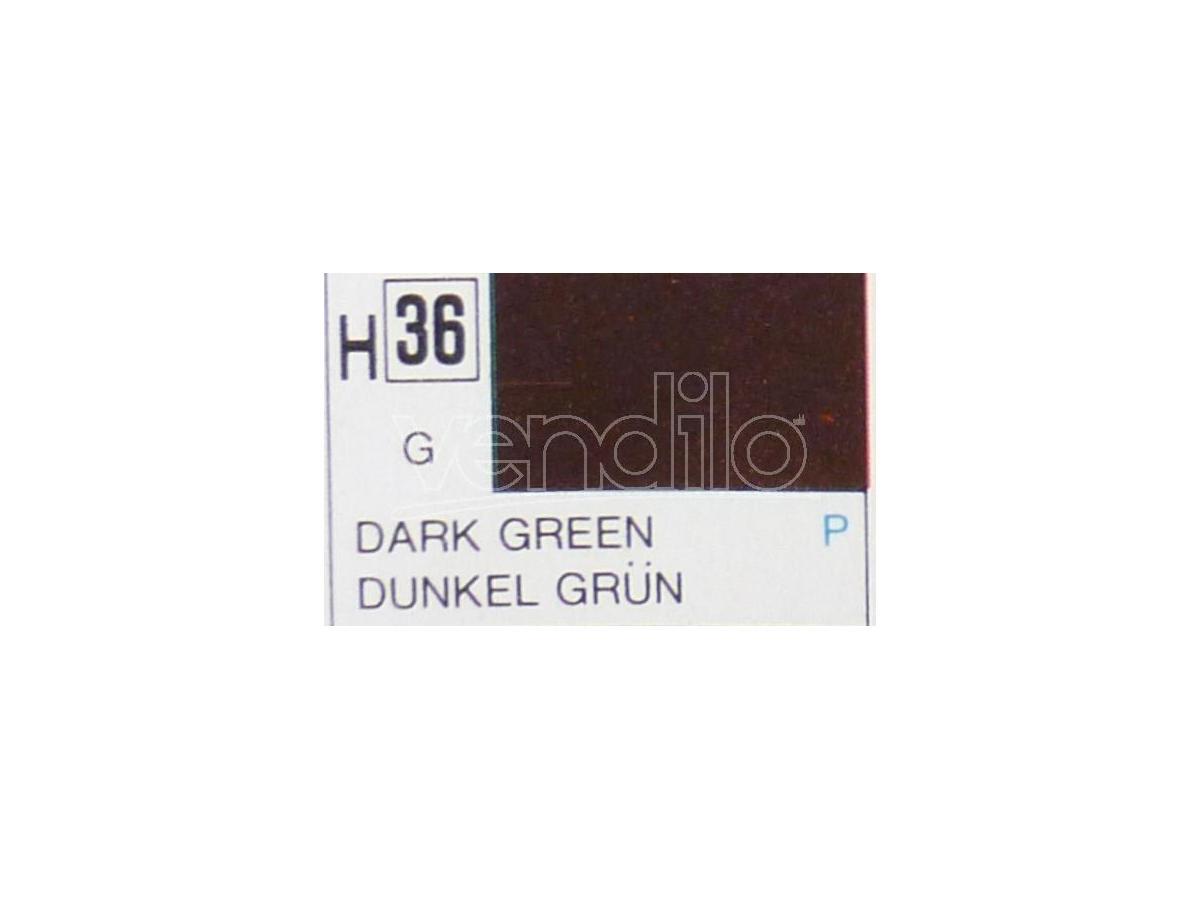 Gunze GU0036 DARK GREEN GLOSS ml 10 Pz.6 Modellino