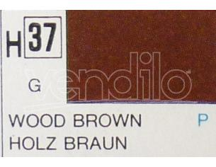 Gunze GU0037 WOOD BROWN GLOSS ml 10 Pz.6 Modellino