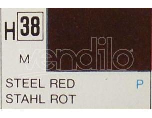 Gunze GU0038 STEEL RED METALLIC ml 10 Pz.6 Modellino