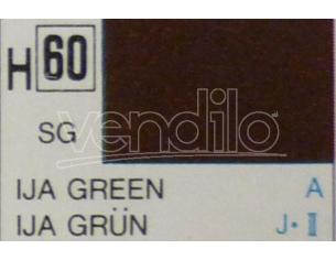 Gunze GU0060 IJA GREEN SEMI-GLOSS  ml 10 Pz.6 Modellino
