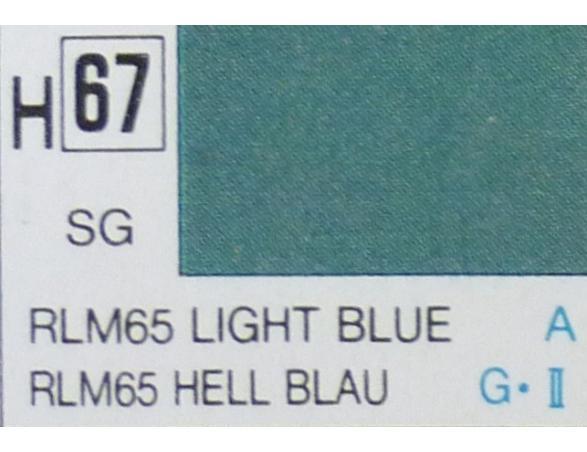 Gunze GU0067 LIGHT BLUE SEMI-GLOSS ml 10 Pz.6 Modellino