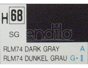 Gunze GU0068 DARK GREY SEMI-GLOSS  ml 10 Pz.6 Modellino