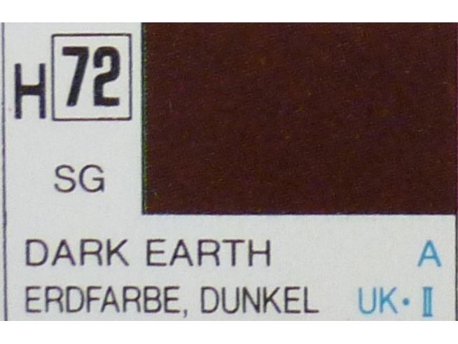 Gunze GU0072 DARK EARTH SEMI-GLOSS ml 10 Pz.6 Modellino