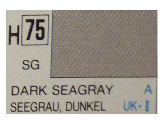 Gunze GU0075 DARK SEAGRAY SEMI-GLOSS  ml 10 Pz.6 Modellino