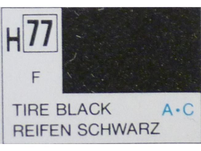 Gunze GU0077 TIRE BLACK MATT ml 10 Pz.6 Modellino