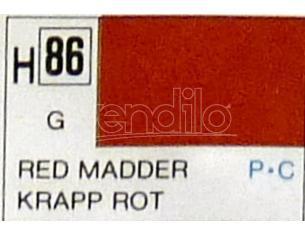 Gunze GU0086 RED MADDER GLOSS ml 10 Pz.6 Modellino
