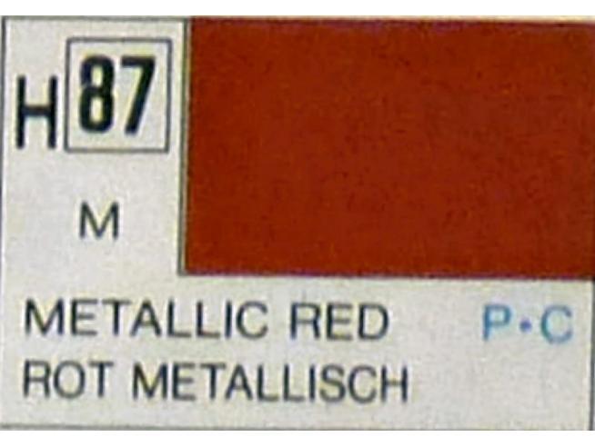 Gunze GU0087 RED METALLIC ml 10 Pz.6 Modellino