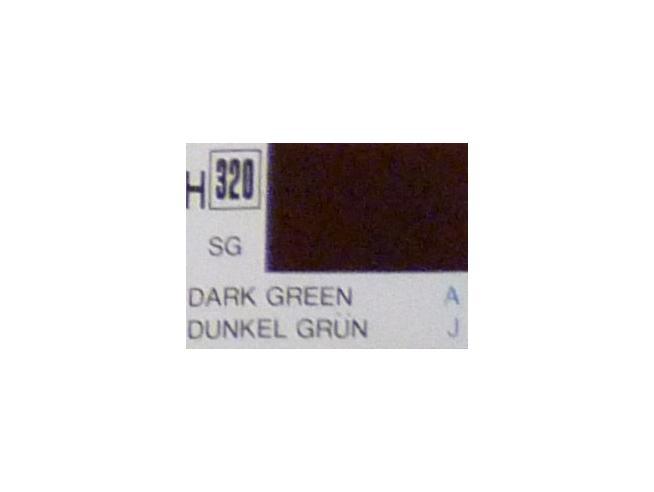 Gunze GU0320 DARK GREEN SEMI-GLOSS ml 10 Pz.6 Modellino