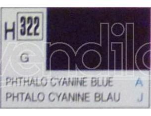Gunze GU0322 PHTHALO CYANNE BLUE GLOSS ml 10 Pz.6 Modellino