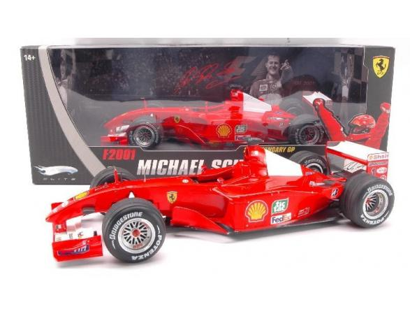 Hot Wheels HWN2075 FERRARI M.SCHUMACHER '01 ELITE 1:18 Modellino