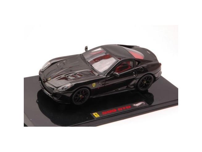 Hot Wheels HWT6932 FERRARI 599 GTO BLACK 1:43 Modellino