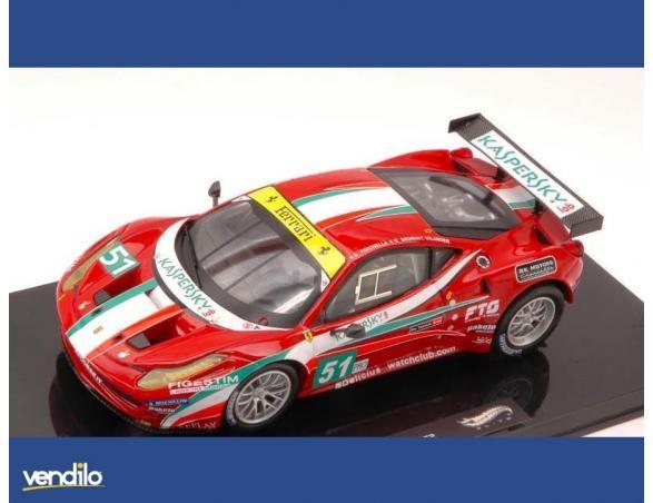 Hot Wheels HWX5497 FERRARI 458 ITALIA GT2 N.51 13th LM 2011 FISICHELLA-BRUNI-VILANDER 1:43 Modellino