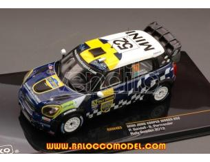 Ixo model RAM493 MINI JOHN COOPER WORKS N.52 8th SWEDEN 2012 SANDELL-PARMANDER 1:43 Modellino