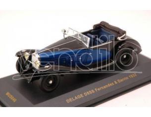 Ixo model MUS046 DELAGE D8SS FERNANDEZ & DARRIN 1932 BLUE/BLACK 1:43 Modellino