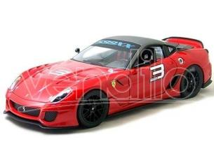 Hot wheels Elite T6263 FERRARI 599XX ROSSA No. 3 1/43 Modellino