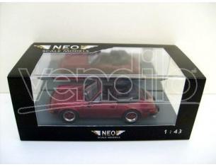 Neo 43252 PORSCHE 911 CARRERA CABRIO USA RED Modellino