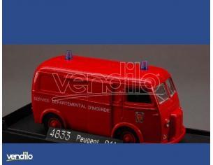 Solido SL4833 PEUGEOT D 4 TOLEE 1964 POMPIERS 1:43 Modellino