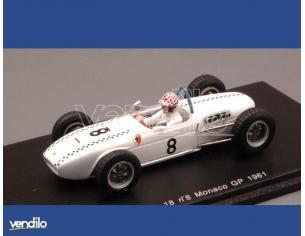 Spark Model S1828 LOTUS M.MAY 1961 N.8 MONACO GP 1:43 Modellino