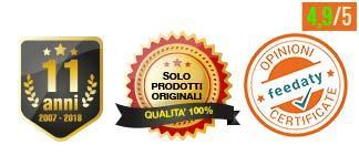 Venditori online da oltre 11 anni  - Solo prodotti originali